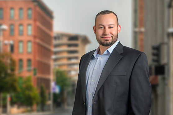 Cash Management Services officer Sean Corativo in Downtown Spokane