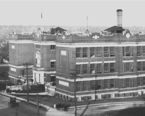 Lewis and Clark High School in the 1920's.