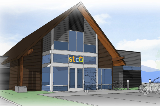 An artist's depiction of what the new Rathdrum branch location will look like when it opens.