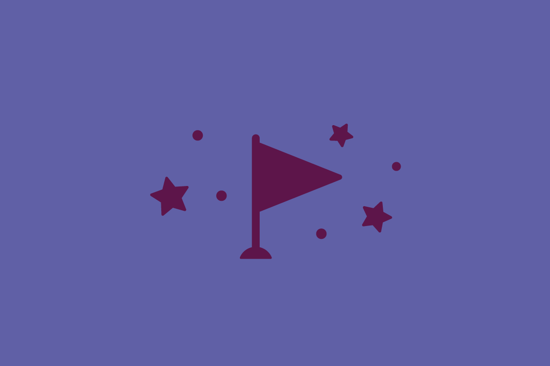 Illustration of a flag and stars