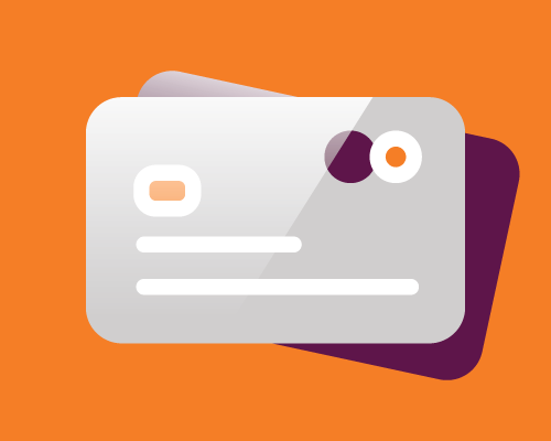 Illustration of credit cards.