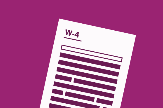 An illustration of a federal W-4 tax form.