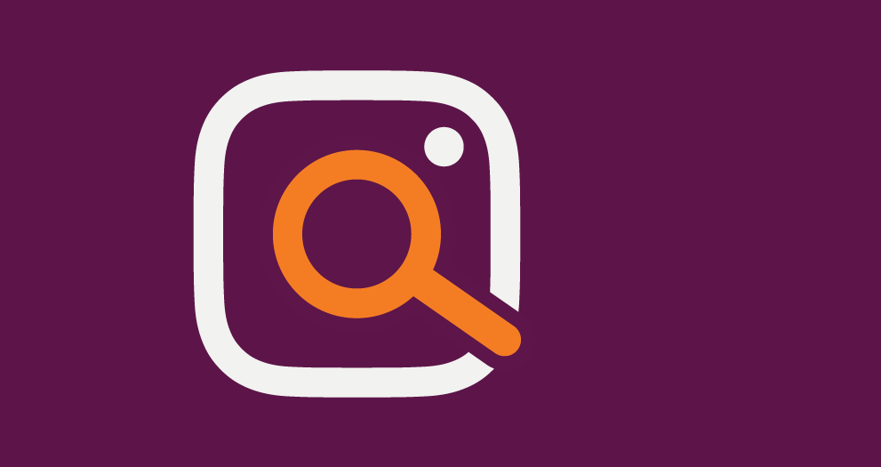 An illustration of a magnifying glass examining the Instagram logo.