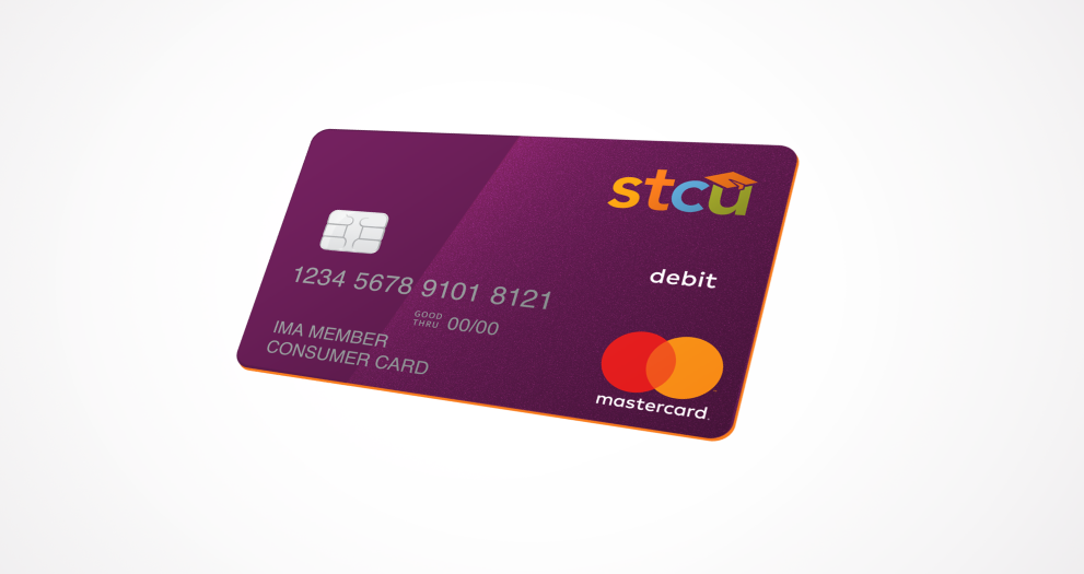 Image of the STCU debit card.
