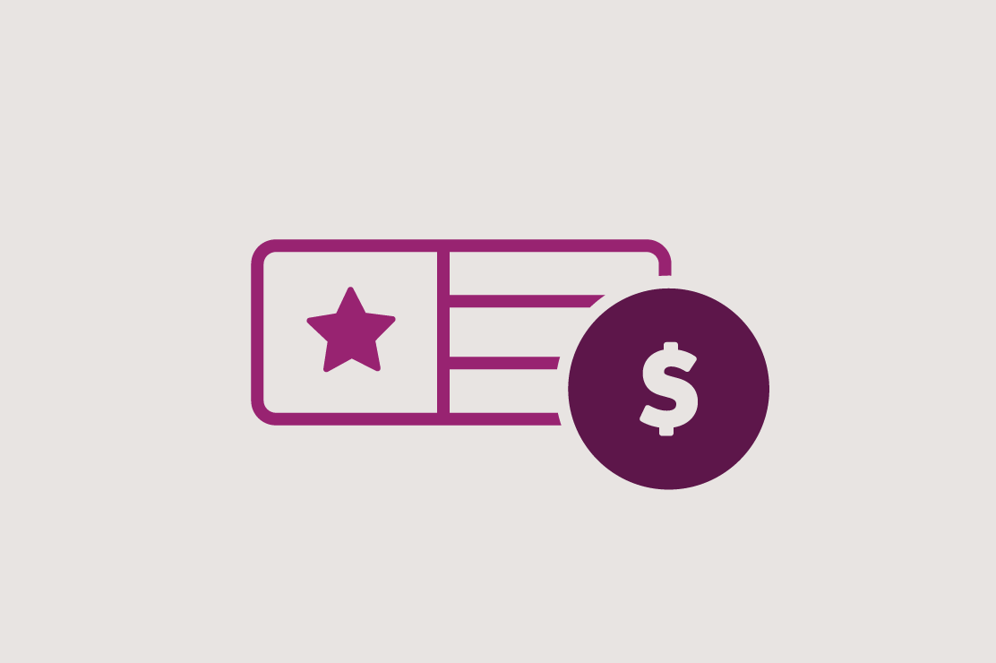 Illustration of flag and dollar sign