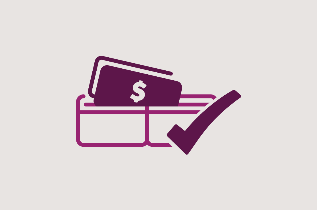 Illustration of money in a wallet for personal loans