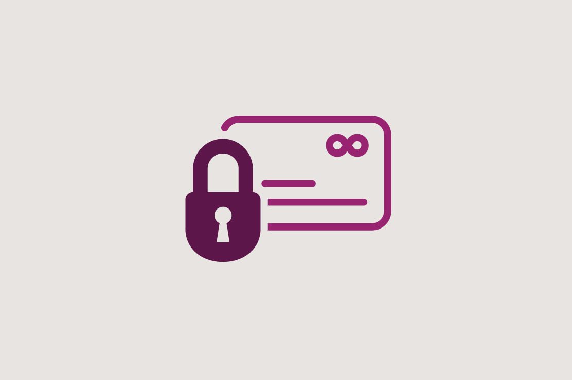 Illustration of a lock on a credit card