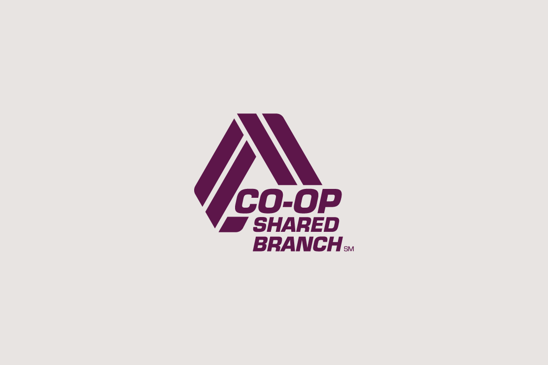 CO-OP logo that says CO-OP shared branch