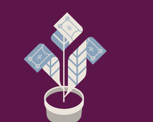 Illustration of money growing on a plant