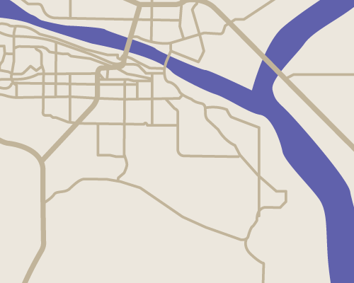 An illustrated map of the Tri-Cities area.