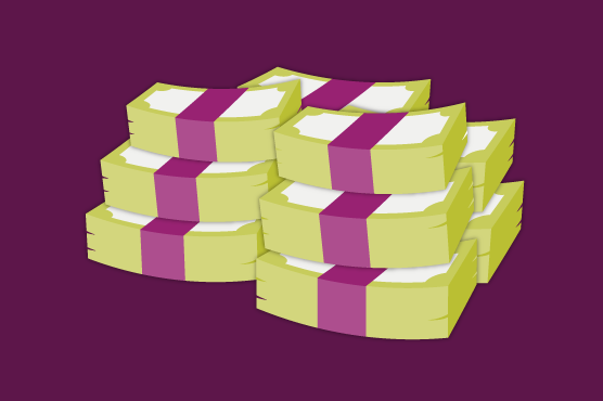 An illustration of stacks of deposits.