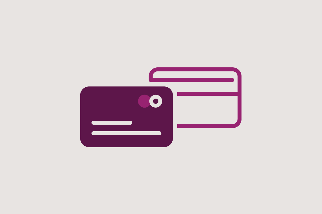 Illustration of a debit card
