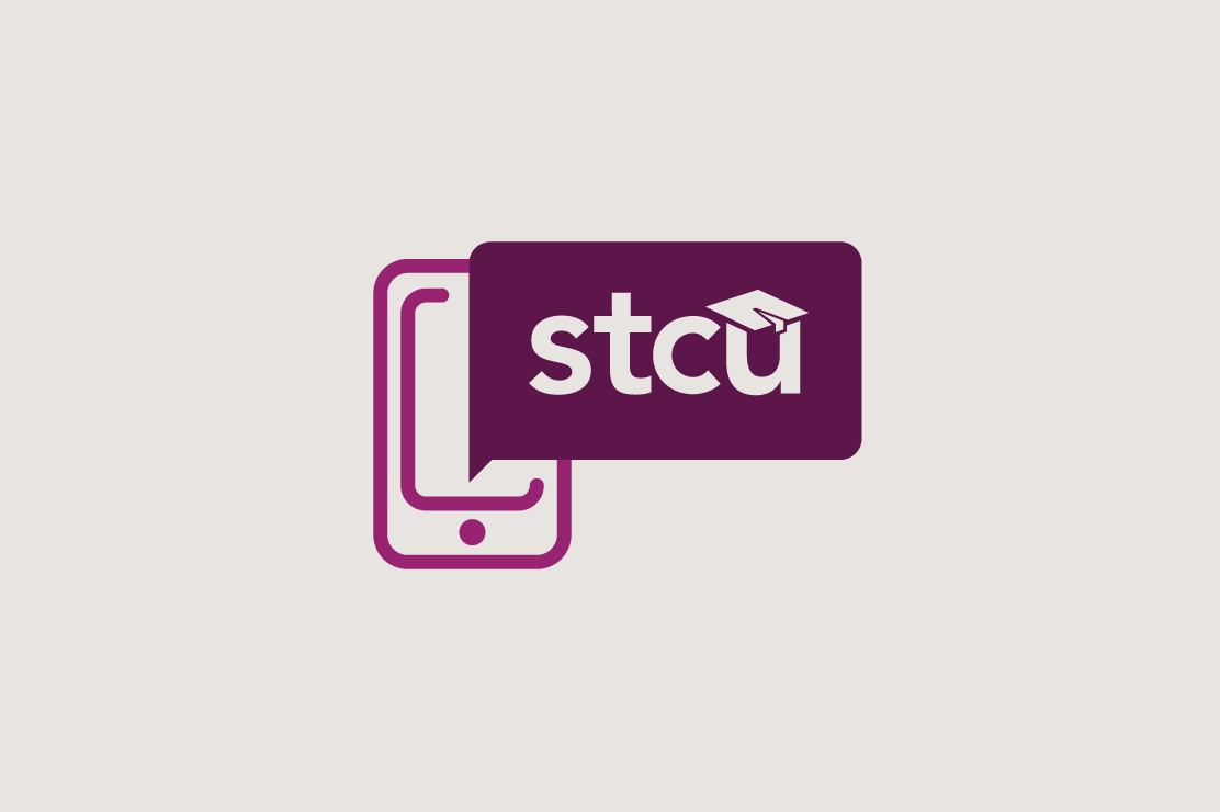 Illustration of a phone and the STCU logo